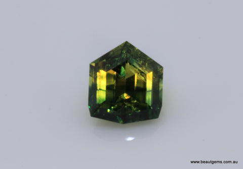 1.57 carat Australia Bi-colour Blue and Yellow Parti Sapphire