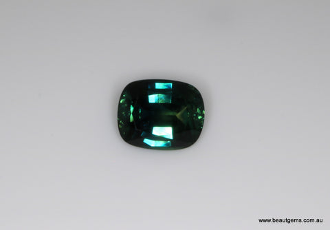 1.85 carat Australia Bi-colour Blue and Green Parti Sapphire
