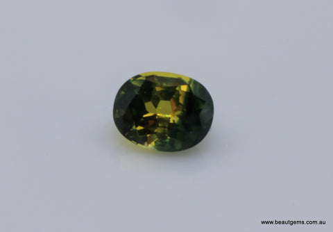1.07 carat Australia Bi-colour Green and Yellow Parti Sapphire