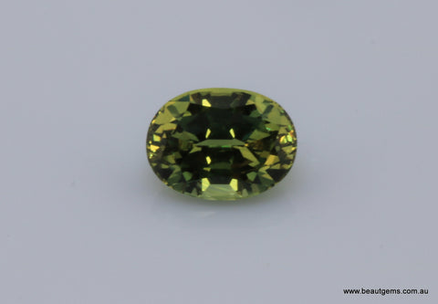1.33 carat Australia Green and Yellow Parti Sapphire