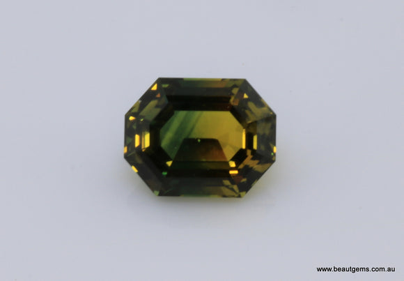 1.47 carat Australia Bi-colour Green and Yellow Sapphire