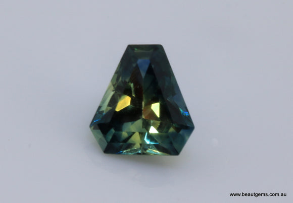 1.72 carat Australia Bi-colour Blue and Yellow Parti Sapphire