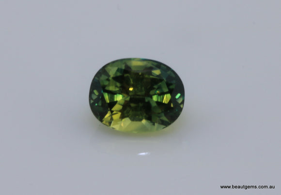 1.72 carat Australia Bi-colour Green and Yellow Sapphire
