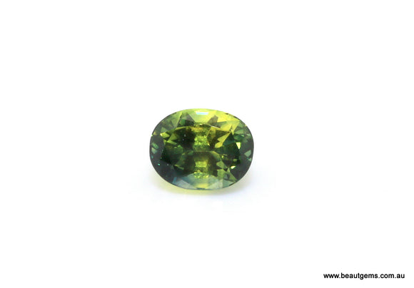 1.79 carat Australia Bi-colour Green and Yellow Parti Sapphire