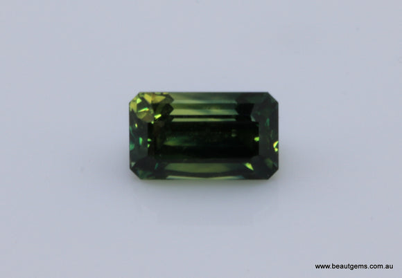 2.02 carat Australia Bi-colour Blue and Green Parti Sapphire