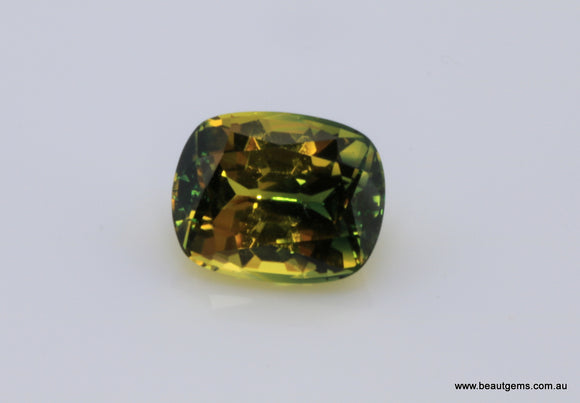 2.83 carat Australia Bi-colour Green and Yellow Parti Sapphire