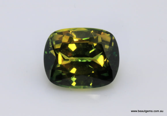 4.01 carat Australia Bi-colour Green and Yellow Parti Sapphire