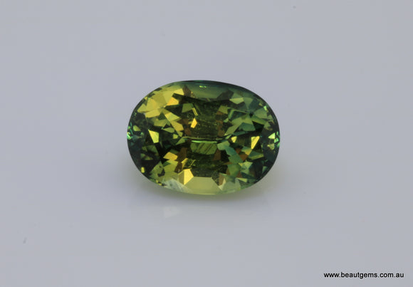 4.20 carat Australia Green and Yellow Sapphire