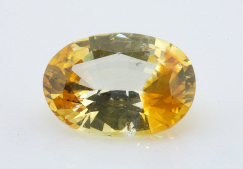 1.10 carat Ceylon Bi-colour Orange and White Sapphire