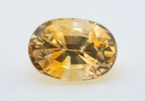 1.17 carat Ceylon Bi-colour Orange and White Sapphire