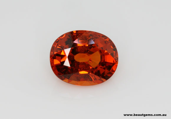 2.55 carat Orange Spessartite Garnet