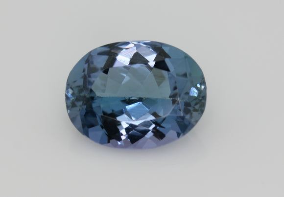 2.16 carat Blue and Green Tanzanite
