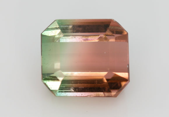 3.85 carat Nigeria Bi-colour Brown and Green Tourmaline