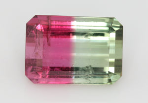 6.99 carat Brazil Bi-colour Pink and Green Tourmaline