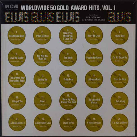 Elvis Presley ‎– Worldwide 50 Gold Award Hits, Vol. 1