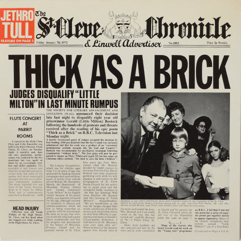 Jethro Tull ‎– Thick As A Brick