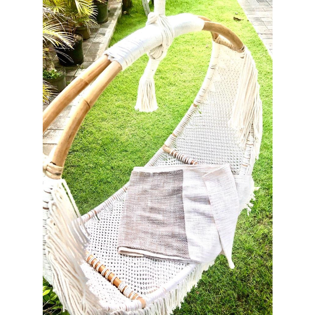 The Indikah Macrame Hanging Chair (January)