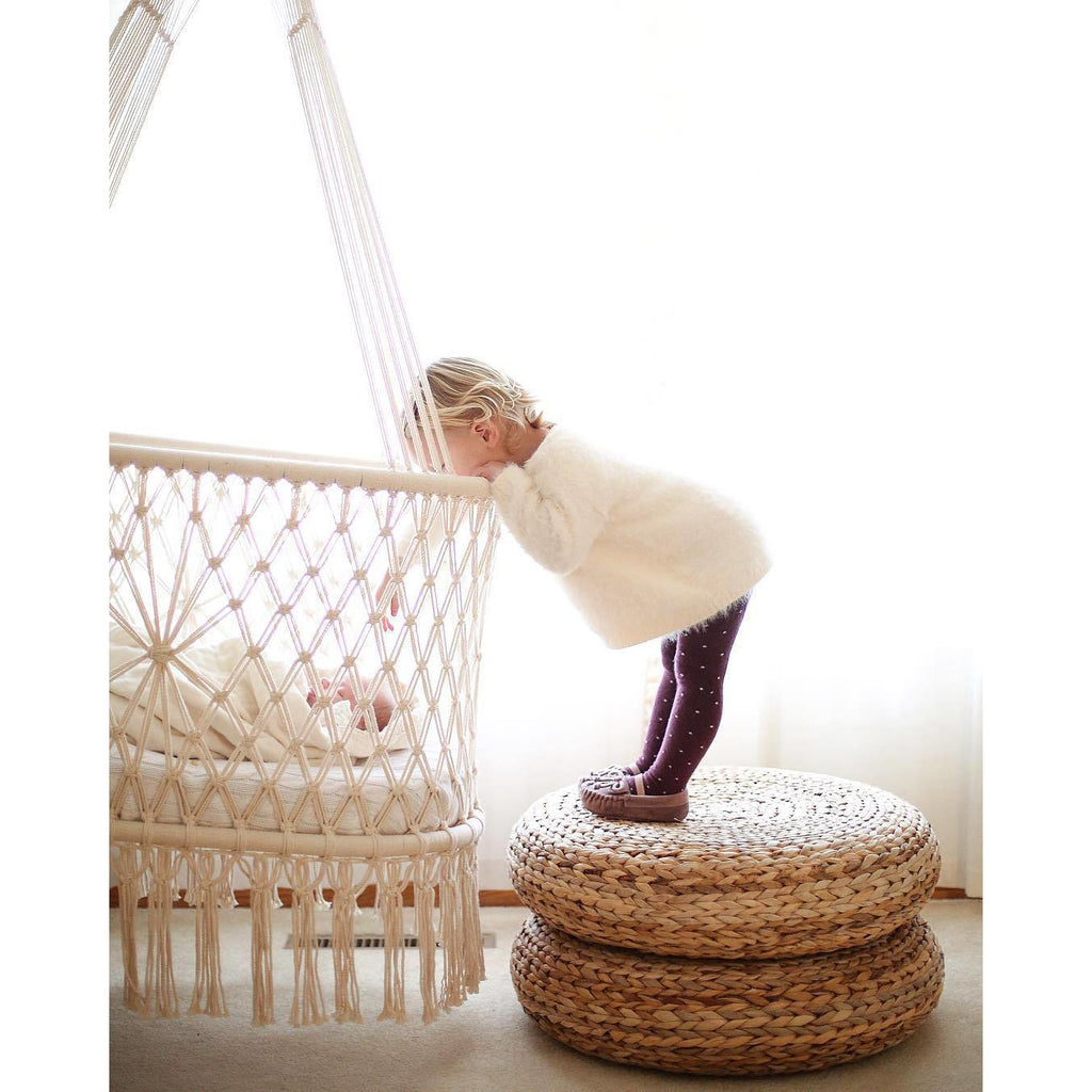 Classic Macrame Hanging Baby Bassinet