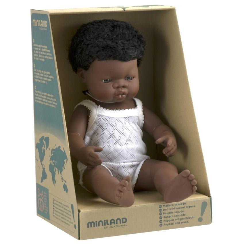 MINILAND DOLL - AFRICAN BOY 38cm (IN STOCK)