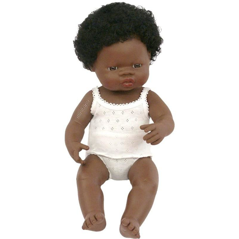 MINILAND DOLL - AFRICAN GIRL 38cm (IN STOCK)