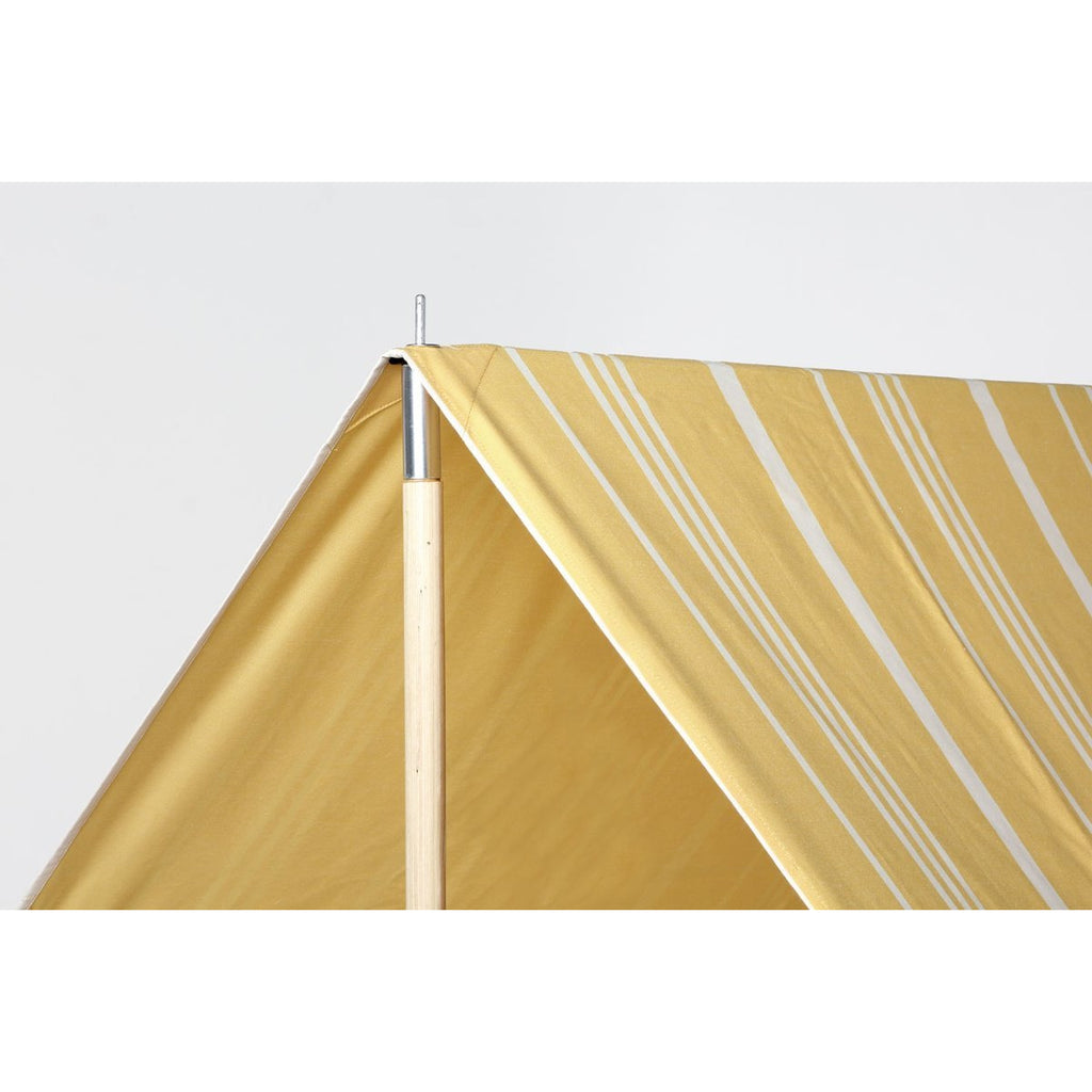 Vintage Yellow Stripe Beach Tent