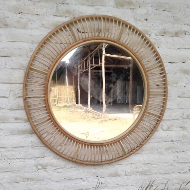 The Bangalow Round Mirror