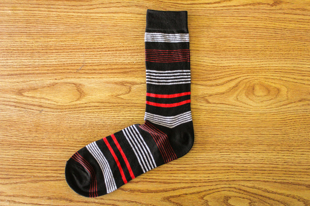 Clooney I Stripe - Black - The Dapper Cats
