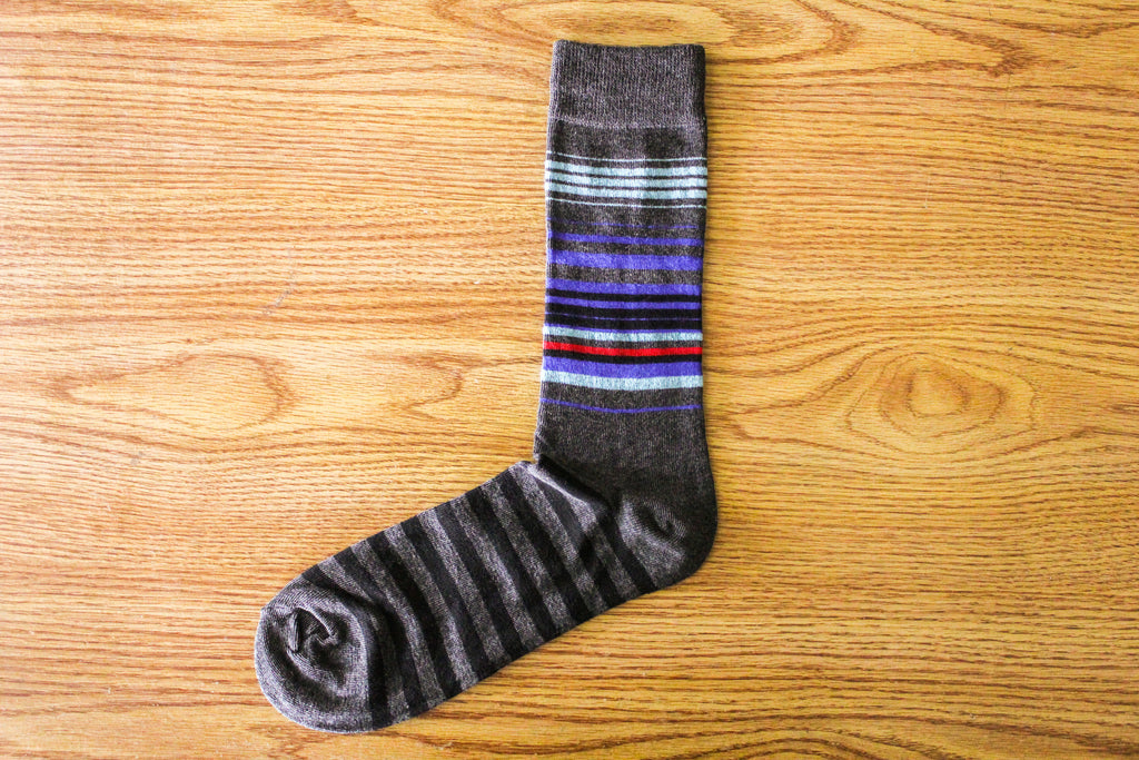 Gulfton I Stripe - Grey - The Dapper Cats