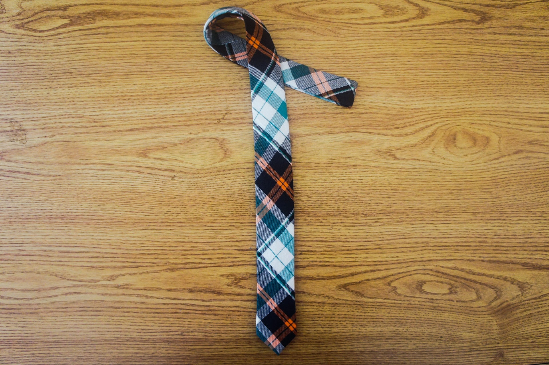 Madras Plaid - Green and Orange - The Dapper Cats - 2