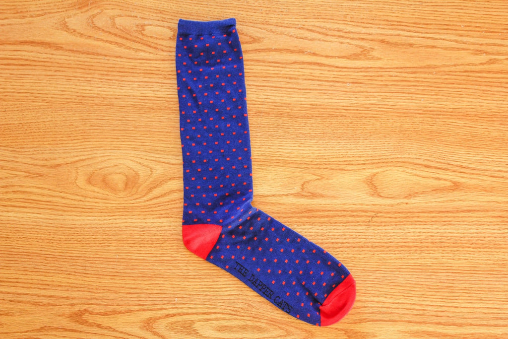 Havana Dots III - Navy Blue and Red - The Dapper Cats