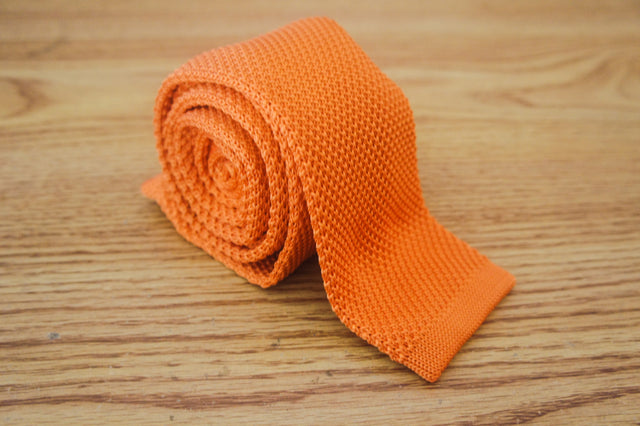 Plain Knit - Tangerine - The Dapper Cats - 1