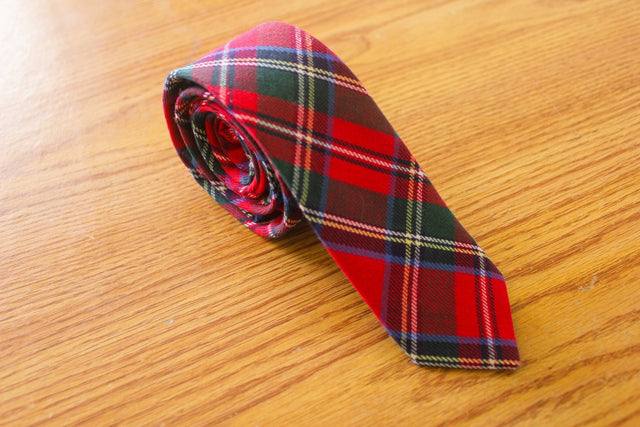 Tartan Kilt - Red and Green - The Dapper Cats - 1