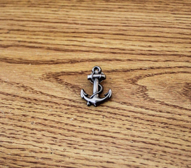 Anchor Lapel Pin - Antique Silver - The Dapper Cats - 1