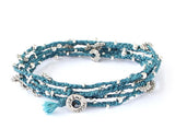Long Wrap - Teal/Silver (Available in 6 colors)