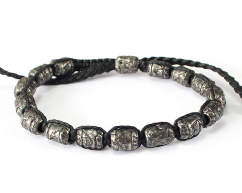 Bracelet - Black/Silver Antique
