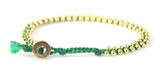 Single Big Beaded Bracelet - Blue/Gold (Available in 8 colors)