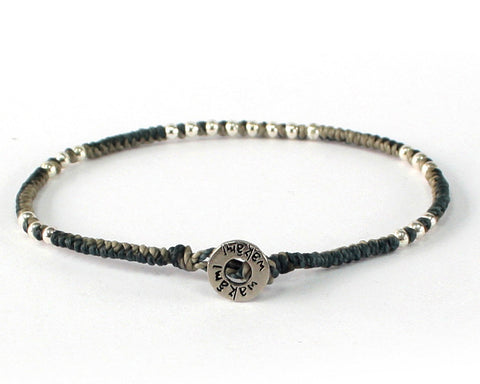 Bracelet - Blue Gray/Silver (Available in 7 colors)