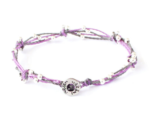 Bracelet - Light Purple/Silver