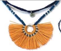 World tribe - Collar piedras azul