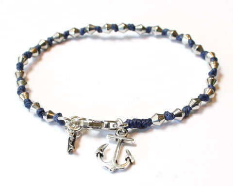 Anchor Bracelet - Blue