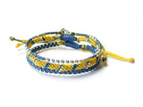 Set of 3 Bracelet - Blue (Available in 6 colors)