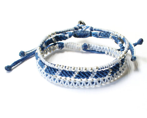 Set of 3 Bracelets - Blue