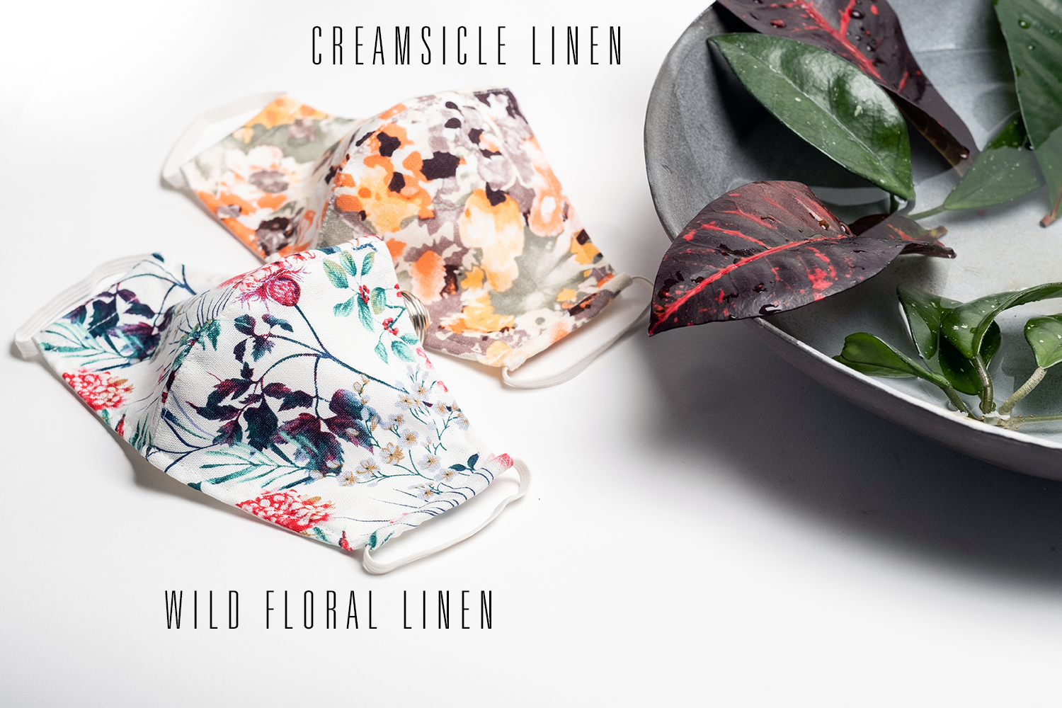 Reusable Eco Friendly Face Cover - Wild Floral Linen
