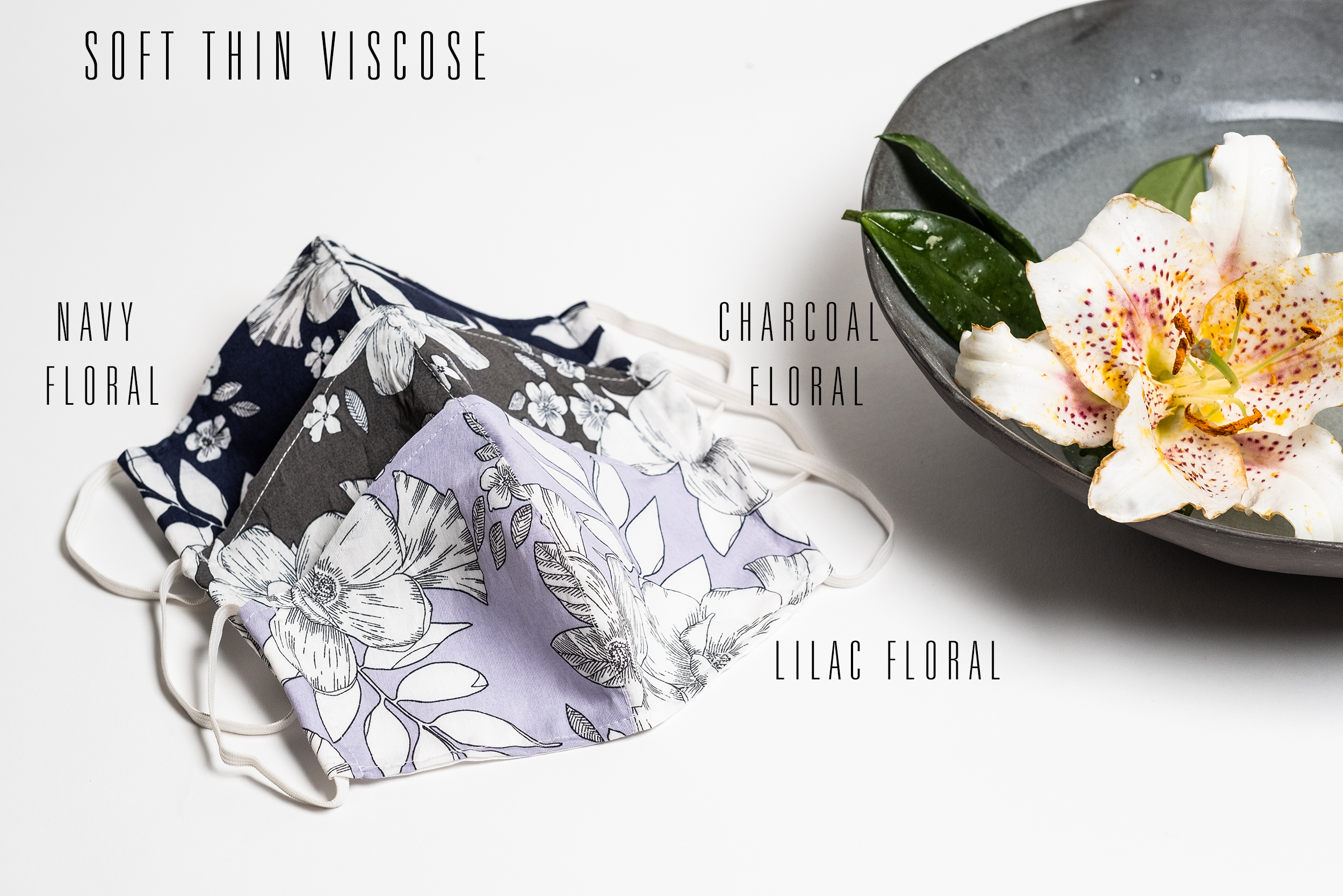 Reusable Eco Friendly Face Cover - Lilac Floral