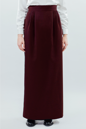 Pencil/Skirt - Burgundy