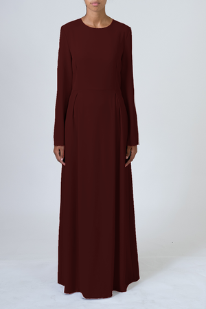 Tailored/Abaya - Burgundy