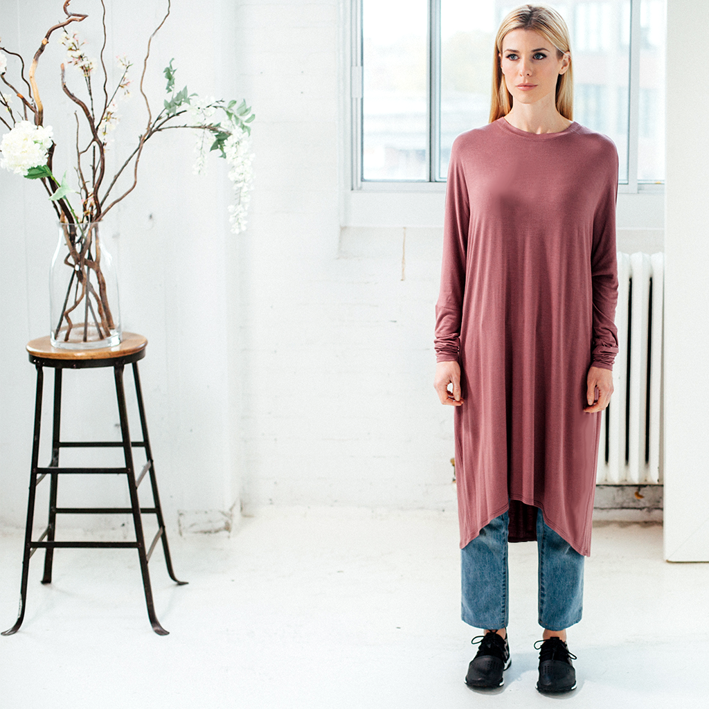 Batwing/Top - Dusty Rose