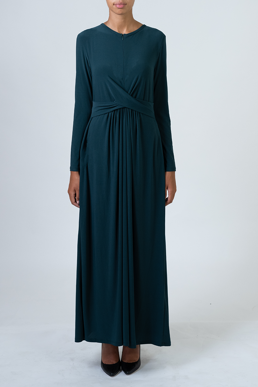 Knot Dress - Hunter Green