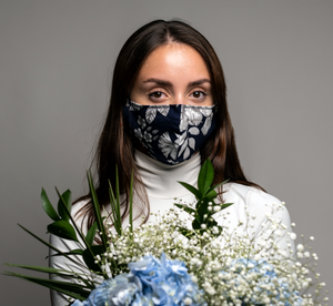 Reusable Eco Friendly Face Cover - Navy Floral