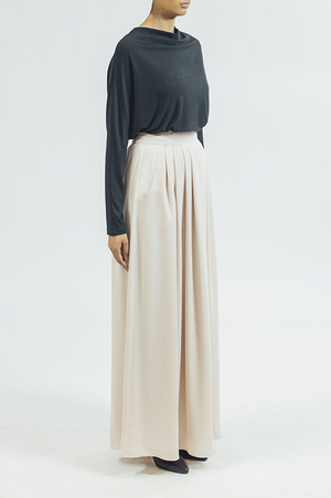 Chiffon/Skirt - Cream